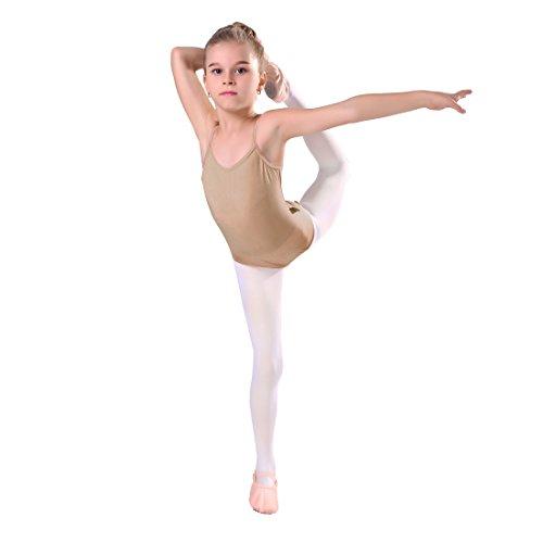 iMucci Seamless Nude Trikot Unterwäsche Dancewear für Gymnastik und Ballett mit verstellbaren Trägern für Frauen und Mädchen für Mädchen 6-10 Jahre