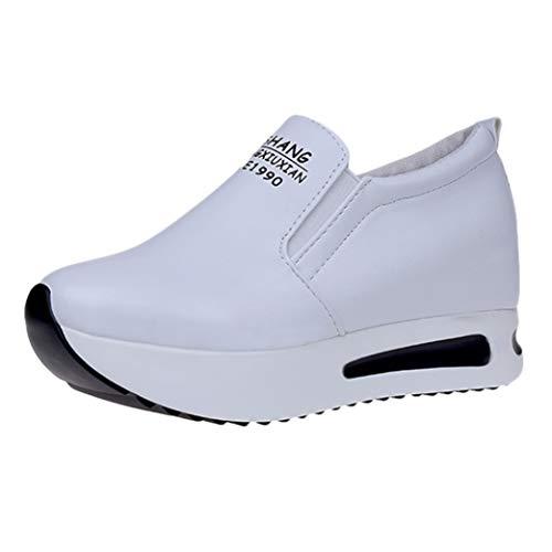 Dames Casual Sleehakken Mode Effen Dikke Trainers Sport Running Wandelen Sneakers Ademend Platform Instappers Instappers