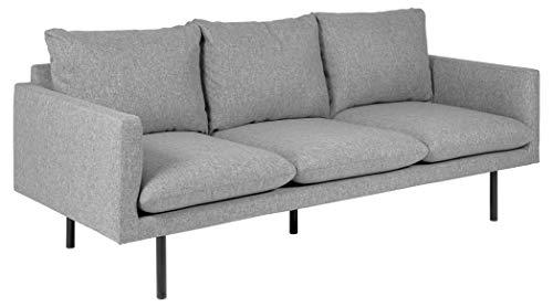 Movian Eli - Sofá de 3 plazas, 85 x 200 x 83 cm (largo x ancho x alto), gris