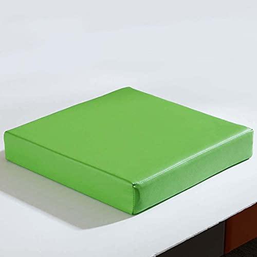ZZeng RS - Cuscino per sedia in pelle, spessore 5/8 cm, impermeabile, antiscivolo, 40/45/50 cm, per giardino, patio, esterno (45 x 45 x 5 cm, verde)