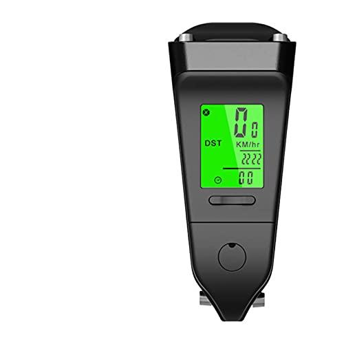 BESISOON Ordenador De Ciclismo con GPS 2 En 1 Bicicleta Computadora Stem Riser Lightlight Bike Cronómetro MANDARIO MANULARIO A Prueba De Agua Speedómetro Odómetro Multifunción para Escalada