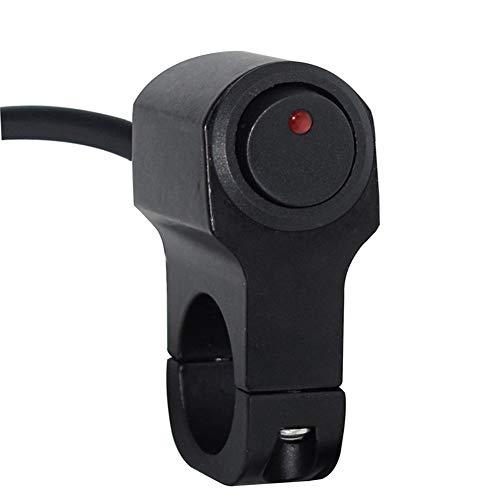Manillar de la Motocicleta Swithes Interruptor de Peligro de luz Faros antiniebla Faros de Niebla Encendido Apagado Interruptor con indicador Luminoso W.S.T.T.S.W (Color : Model 1)