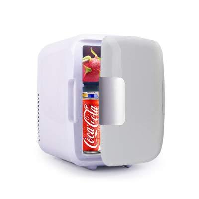 Mini Refrigerador De 4 litros, Enfriador Y Calentador Compacto/Mini Refrigerador Congelador De Una Puerta, Adecuado para Automóvil, Viaje por Carretera, Hogar, Oficina,Azul