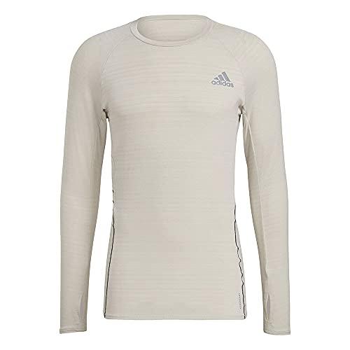 adidas Adi Runner LS Langarm-T-Shirt für Herren M Alumin