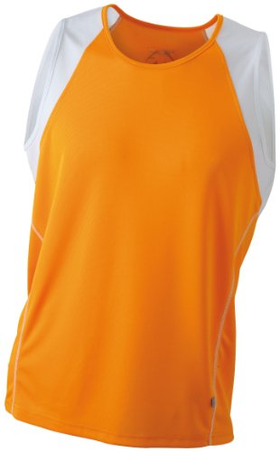 James & Nicholson, Herren Running Tank Top, orange (orange/white) XX-Large