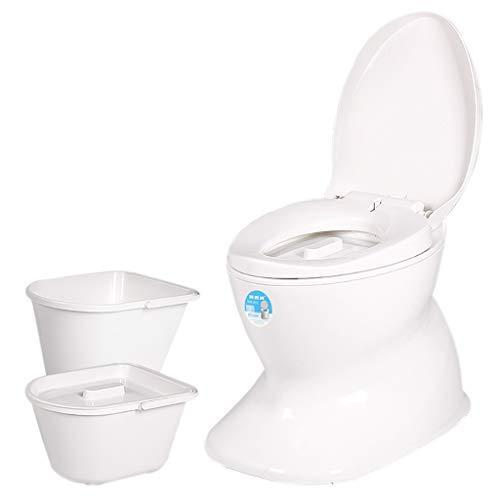 Simulation De Toilette Portable en CéRamique Femmes Enceintes Femmes âGéEs Amovible Joint De Toilette DéOdorant Conception à Double Barillet
