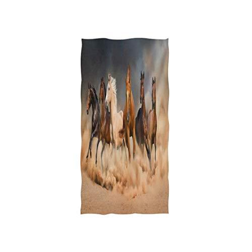 Rode washandjes van Hotel Spa Gym Sport washandjes paard fornuis Run In Desert Sky 30 x 15 inch handdoek zacht
