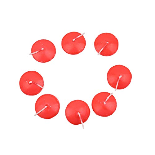 ShawnBlue Candles 10pcs/set Birthday Party Decoration Batch Scented Candles Floating Candles Wax Wedding Romantic Creative Candles Gifts For Women (Color : Red)