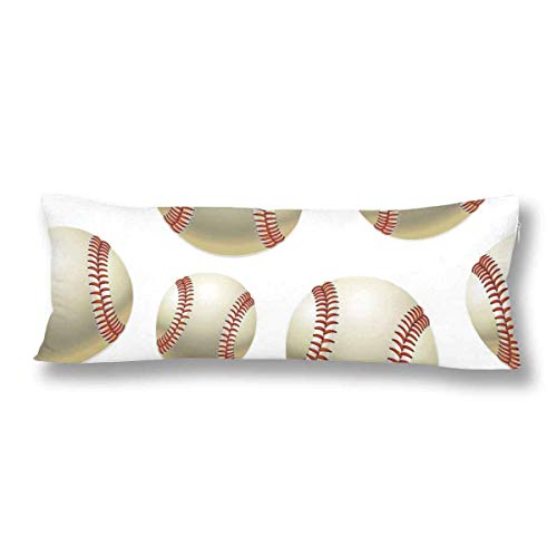 CiCiDi Seitenschläferkissen Kissen-Bezug 40x145 cm Baseball Ball Atmungsaktives Kissenhüllen mit Reißverschluss Baumwollen und Polyester