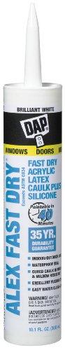Alex Fast Dry Acrylic Latex Plus Silicone Caulk, 10.1 oz, 6 Pack