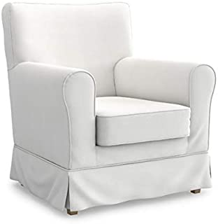 MastersofCovers 5 Color Cotton Jennylund Armchair Cover for The IKEA Jennylund Chair Slipcover Replacement (Cotton-White)