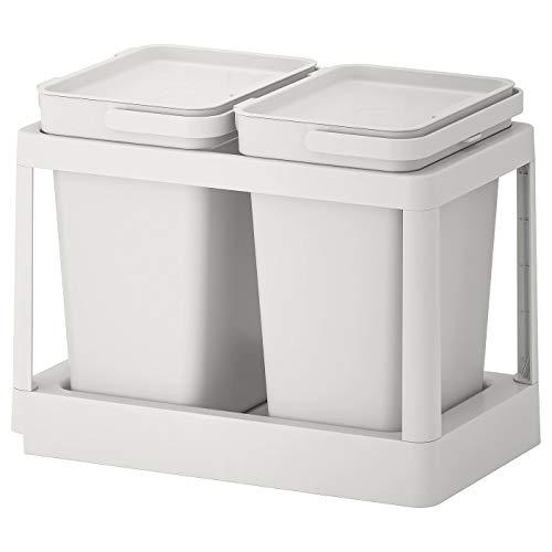My- Stylo Collection Solución de clasificación de residuos, Marco extraíble, Color Gris Claro, tamaño del Producto: Volumen: 20 litros