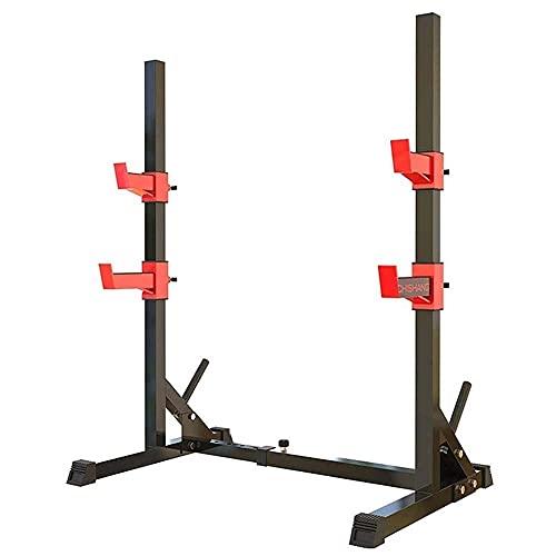 COUYY Squat Rack Hogar Bench Press Indoor Fitness Equipment Barbell Rack Bench Press Equipo Ancho y Altura Ajustable
