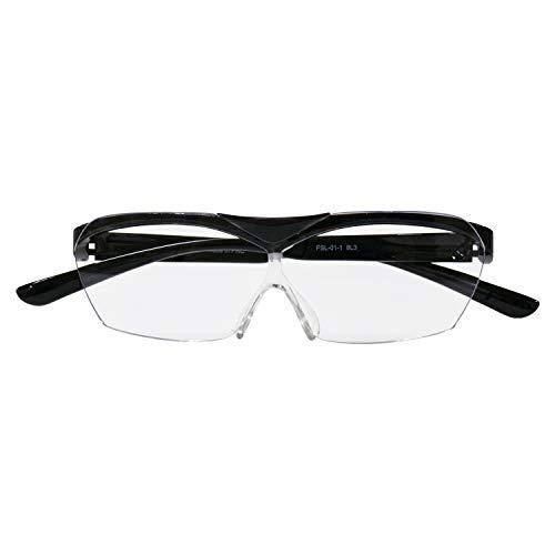 メガネ型拡大鏡 SMART EYE ハネアゲルーペ クリアダークグレー