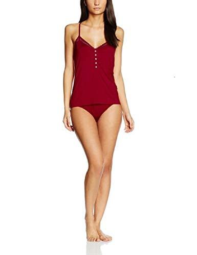 Calvin Klein Damen Zweiteiliger Schlafanzug Set Cami_Hipster, Rot (Regal Red (W/Sensuous Lace) 4RG), 38 (Herstellergröße: M)
