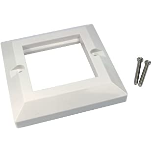 kenable Faceplate 2 Port Dual 85 x 85mm Bevelled Single Gang for RJ45 Modules:Superclub
