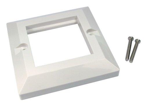 Inbouwdoos 2 poorten dubbel 85 x 85 mm Bevelled enkel vak voor RJ45 modules