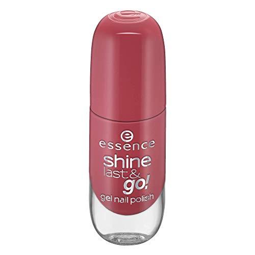 essence shine last & go! gel nail polish, Gellack, Nagellack, Nr. 48 my love diary, rot, gelig, scheinend, ohne Aceton, vegan, ohne Konservierungsstoffe (8ml)