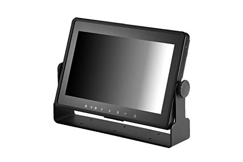 """Small 10.1"""" inch IP65, IP67 Capacitive Touchscreen All Weather Rugged Optically Bonded Waterproof Industrial & Automotive Display Monitor HDMI, VGA, USB, DVI Video Inputs 9V DC ~ 36V DC - 1029GNH"""