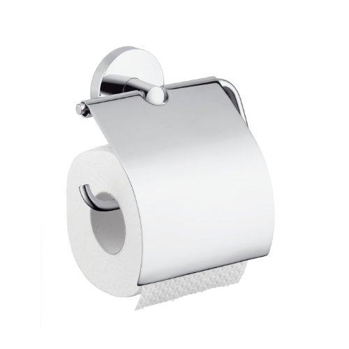 Hansgrohe 40523820 Papierhalter Logis mit Deckel, brushed nickel