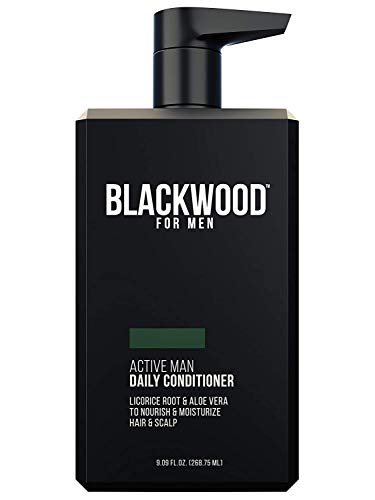 Blackwood For Men Active Man Daily Conditioner for Men with Oily Hair Thinning Hair or Hair Loss Premium Pump 9.09 Oz Paraben-Free