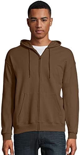 Hanes Mens ComfortBlend EcoSmart Full Zip Hoodie 2XL Army Brown product image