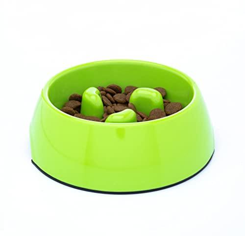 DDOXX Fressnapf Antischlingnapf, rutschfest   viele Farben & Größen   für kleine & große Hunde   Futter-Napf Katze   Hunde-Napf Hund   Katzen-Napf   Melamin-Napf   Grün, 300 ml