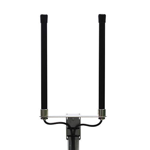 PROSCAN Antenna 800/1800/2600 MHz Multiband LTE Antenne – 4G Rundstrahlantenne mit bis zu 6.5dBi Leistungsgewinn, Schwarz, Wetterfest, 5m Kabel mit SMA Stecker - passend für LTE Router