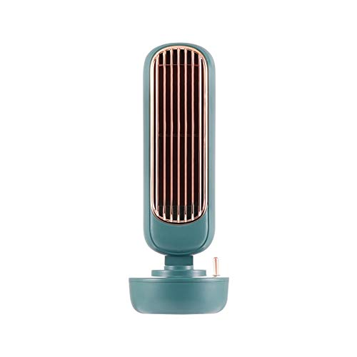 MONKEANGC Tower Fan, Water Cooling, Cooling, replenishing, humidifying Spray, Mini Portable leafless Fan, Small air Cooler (Color : A)