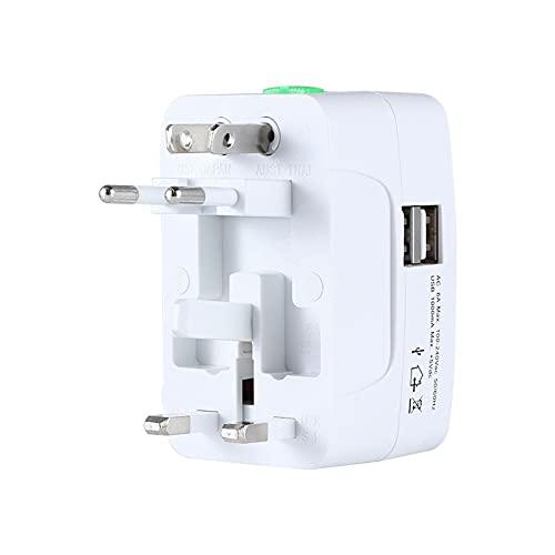 YRC El Enchufe Universal de conversión USB es Necesario para Viajar al Extranjero, aplicable a los estándares de los Estados Unidos, Australia, Gran Bretaña y Europa
