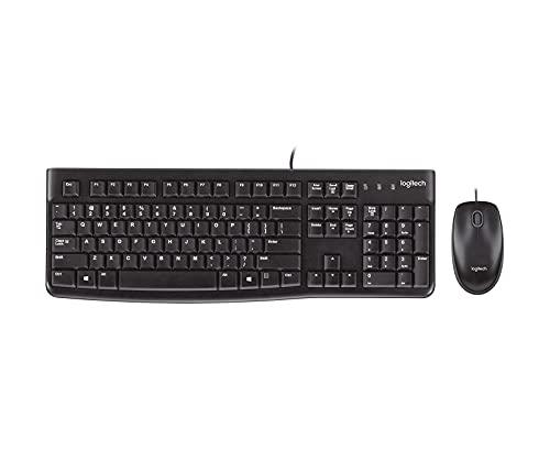 Logitech MK120 Wired USB Keyboard Mouse Desktop Combo