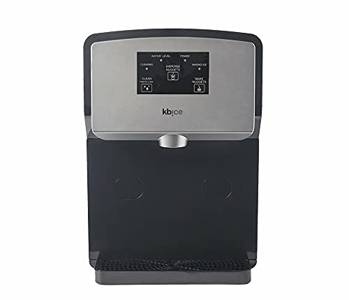 KBice Self Dispensing Countertop Nugget Ice Maker, Crunchy Pebble Ice Maker, Sonic Ice Maker,Produces Max 30 lbs of Nugget Ice per Day, Stainless Steel Display Panel