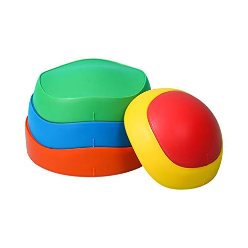 Fiaoen Kids Balance Stepping Stones, Non-Slip Portable Wave Blocks,Fun Indoor & Outdoor Toy Helps Build Coordination & Strength