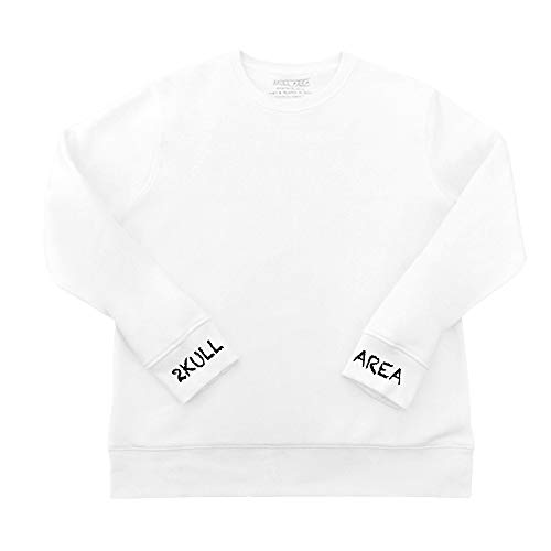 "2KULL AREA Sweatshirt ""NO Gossip"" I Street-, URBAN-, Security-, Fight-, Vintage-, Sports- & Bikewear (Weiß, S)"