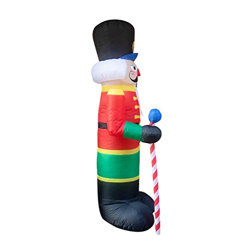 Christmas Nutcracker Christmas Inflatable LED Light Indoor Outdoor Porch Lawn Yard Garden Party Decor (A)