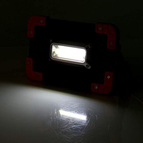Lámpara de Trabajo de Punto Claro, Linterna de Campamento Verde 5V 4 x 18650 Batería de Litio 20 x 13 x 3,5 cm de plástico de Aluminio