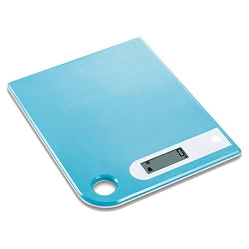 WLIXZ Bilance da Cucina, Bilance elettroniche UltraSottili per Uso Domestico, Bilance da Cucina di precisione per Pasticceria,Blue