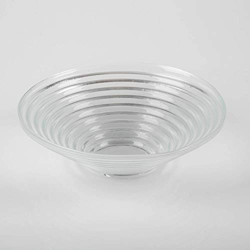 INNA-Glas Coupe rainurée en Verre Selma, Deluxe, Transparent, Ø 23cm - Coupelle Pot pourri - Coupelle Ronde