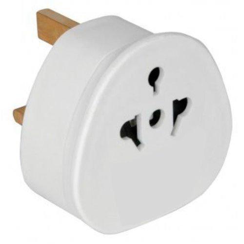 M-K 3X Reiseadapter Adapter Stecker für England - Reisestecker Stromadapter Schuko EU zu UK Steckdose - Travel Plug Schottland Irland in Weiß Reisestecker-Adapter UK-Deutschland In Weiß