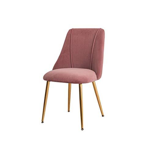 Dining Chair Hermosa silla simple escritorio de estudiante y silla de maquillaje taburete de computadora para el hogar fuerte (color rosa