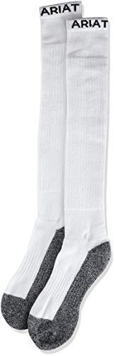 Ariat Men's Full Cushion Over The Calf 2-Pack Sock, white, Large