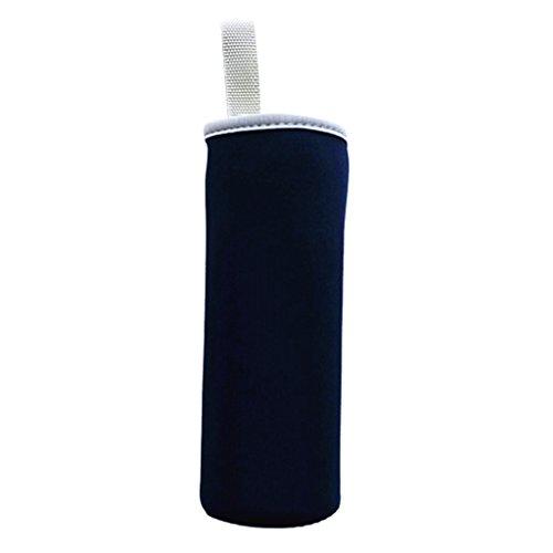 Sharplace Isolierender Neopren Thermo-Hülle für Trinkflasche Sport Glasflasche Wasser-Flasche - Navy blau