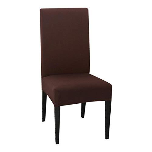 LLAAIT 1/2/4/6 Uds Funda de Silla de Color sólido Spandex Fundas elásticas Fundas para sillas para Comedor Cocina Boda Banquete Hotel