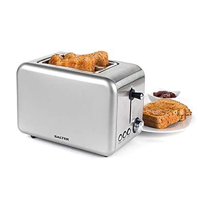 Salter EK2652TITANIUM Metallics Polaris 2-Slice Toaster, 850W, Titanium Edition