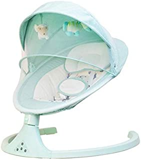 COOLBABY Swing With Remote and Bluetooth Music Control Swing Baby crib cradle Adjustable Portable Baby electric rocker Hom...