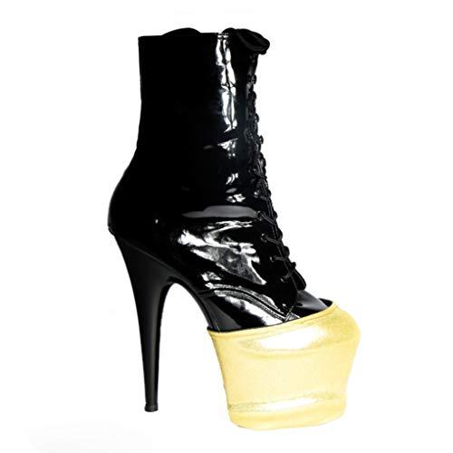Wink Plate-forme réversible pour chaussures, noir/or, taille unique