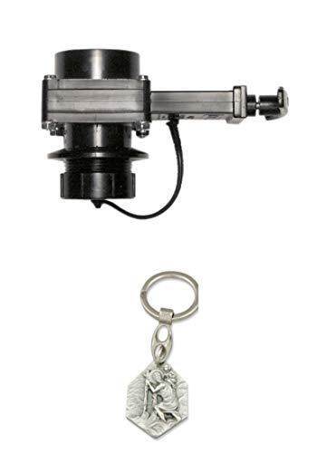 Zisa-Kombi Abwasserschieber 38mm SB (93298865254) mit Anhänger Hlg. Christophorus