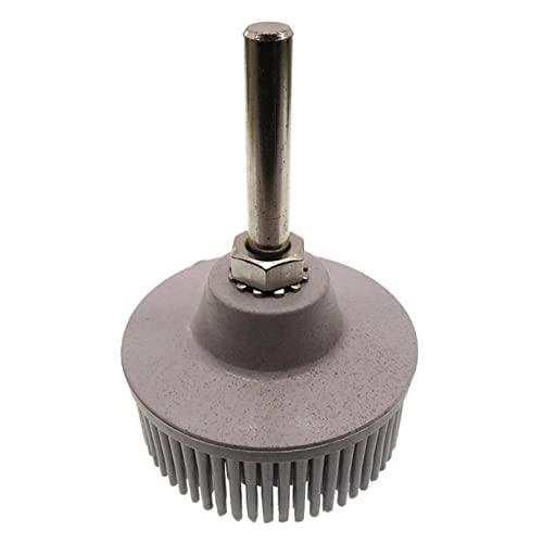 Wnuanjun 1pc 2 Pulgadas 1/4'6.35mm Pulido Ruedas Grit 50 80 120 Bristle Radial Disco emerio Goma Cepillo abrasivo (tamaño : Grit 120)
