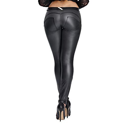 DALLNS Faux Leather PU Elastic S...