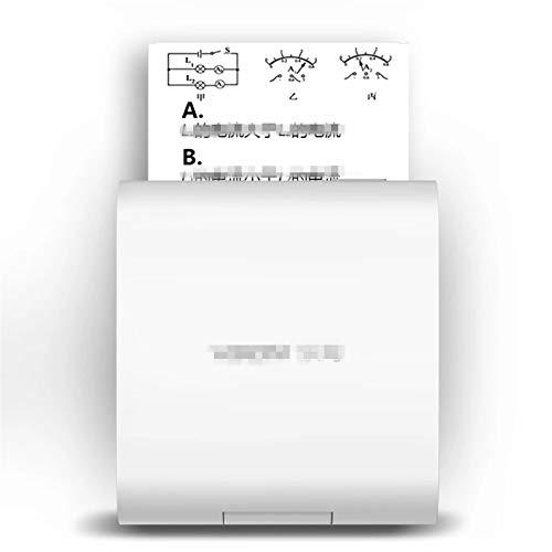 Feixunfan Impresora de Bolsillo Impresora térmica de Bolsillo 200DPI inalámbrica BT Impresora con 4 Rollos de Papel para Impresión en Papel Fotográfico (Color : Marrón, Size
